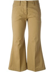 Dondup Flared Trousers Nude And Neutrals