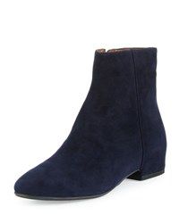 Aquatalia By Marvin K Uri Suede Ankle Boot Navy