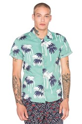 Scotch And Soda Hawaiian All Over Printed Shirt Green