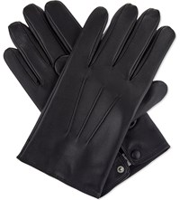 Sandro Leather Gloves Black