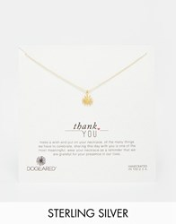 Dogeared Gold Plated Thank You Bridal Starburst Necklace