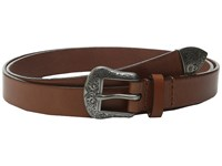Lauren Ralph Lauren 1 Western Belt With Metal Tip On Smooth Veg Leather Strap Cuoio Women's Belts Brown