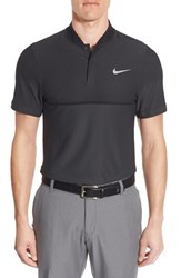 Nike Men's 'Fly Swing' Dri Fit Golf Polo Anthracite Reflective Silver