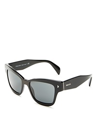 Prada Conceptual Square Cat Eye Sunglasses Black