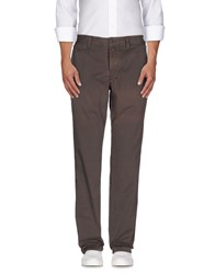 Jaggy Trousers Casual Trousers Men Dark Brown