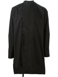 Alchemy Band Collar Buttoned Shirt Black