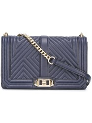 Rebecca Minkoff 'Geo' Quilted Crossbody Bag Blue