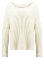 Earnest Sewn Andy Jumper Aged White Off White