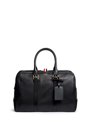 Thom Browne Leather Duffle Bag Black