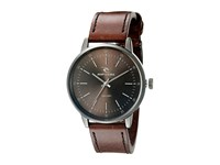 Rip Curl Drake Gunmetal Leather Gunmetal Grey Watches Gray