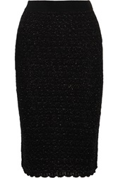 Sibling Metallic Wool Blend Boucle Pencil Skirt