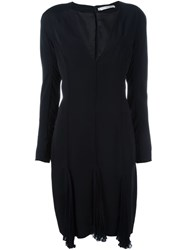 Christian Dior Vintage V Neck Dress Black