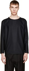 Lemaire Black Wool Flannel Top