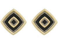 House Of Harlow Lady The Lake Button Earrings Black Earring