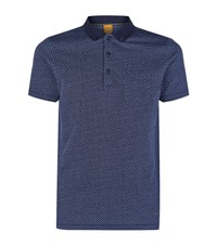 Boss Orange Flecked Polo Shirt Male Navy