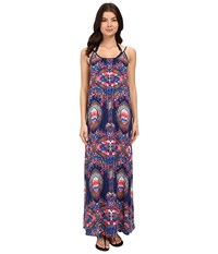 Red Carter Dream Catcher Maxi Dress Cover Up Navy Women's Swimwear