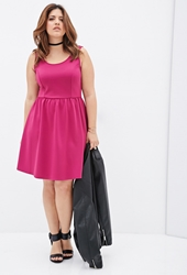Forever 21 Fit And Flare Scuba Knit Dress