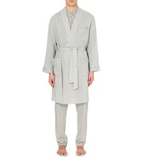 La Perla Future Cotton And Silk Blend Dressing Gown Grey