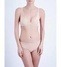 Wolford Cotton Contour Lace Skin Underwired Bra Rose Tan