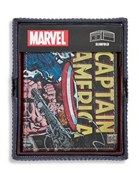 William Rast Captain America Leather Bi Fold Wallet