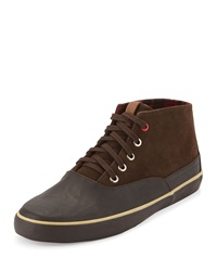 Ben Sherman Percy Suede Leather Sneaker Chocolate