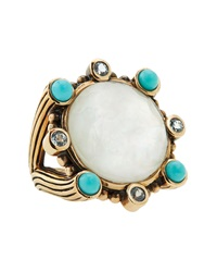 Stephen Dweck Mother Of Pearl And Natural Quartz Doublet Ring 7