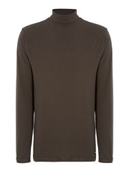Only And Sons Roll Neck Long Sleeve Jersey Top Dark Green