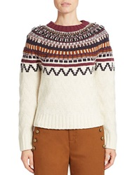 424 Fifth Fair Isle Raglan Sleeve Sweater Ivory