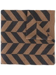 Theory 'Herrigs' Chevron Scarf Brown