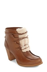 Uggr Women's Ugg Analise Genuine Shearling Boot Chestnut Natural Leather