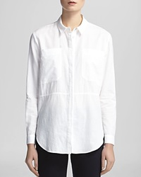 Whistles Shirt Romy Longline Pocket White