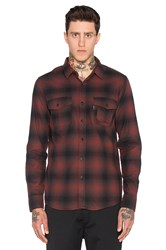 Huf Slauson Plaid Button Down Wine