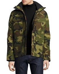 Canada Goose Maitland Hooded Parka Green Multi Camouflage Gren Multi Camo