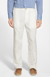 Men's Big And Tall Tommy Bahama 'Summerland Keys' Flat Front Linen Pants Coconut