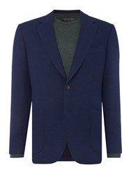 Chester Barrie Honeycomb Blazer Dark Blue