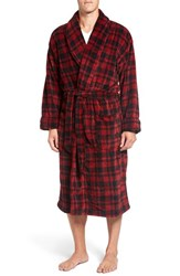 Polo Ralph Lauren Men's Microfiber Robe Avenue Red Plaid