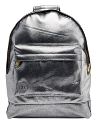 Mi Pac Pebbled Backpack Silver