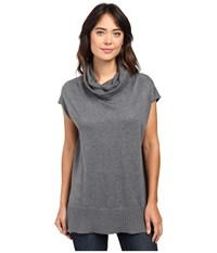 Lilla P Cotton Modal Cowl Neck Tunic Gunmetal Women's Blouse Gray