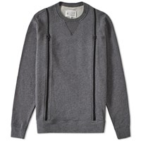 Maison Martin Margiela Maison Margiela 10 Double Zip Crew Sweat Grey