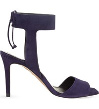 Whistles Delphia Suede Heeled Sandals Navy