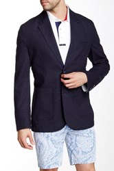Mine Solid Notch Lapel Two Button Blazer Multi