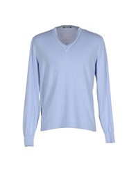 Andrea Fenzi Knitwear Jumpers Men Sky Blue