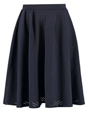 Wal G. Pleated Skirt Navy Dark Blue