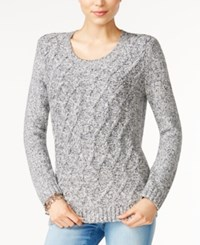 Tommy Hilfiger Lillian Cable Knit Sweater Only At Macy's Masters Navy