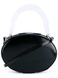 Simone Rocha Patent Leather Box Bag Black