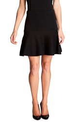 Cece By Cynthia Steffe Knit Flounce Skirt Rich Black