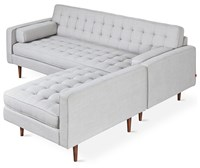 Gus Design Group Gus Spencer Loft Bi Sectional With Wood Base