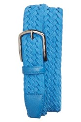 Tod's Braided Leather Belt Blue