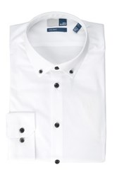14Th And Union Long Sleeve Extra Trim Fit Solid Dress Shirt White