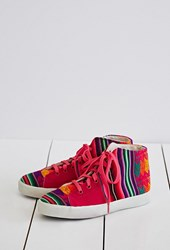 Forever 21 Inkkas Cotton Candy High Tops Pink Multi